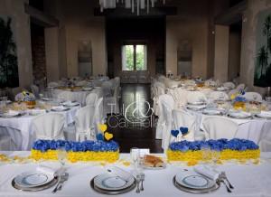 Il bellissimo tavolo imperiale degli sposi e dei testimoni