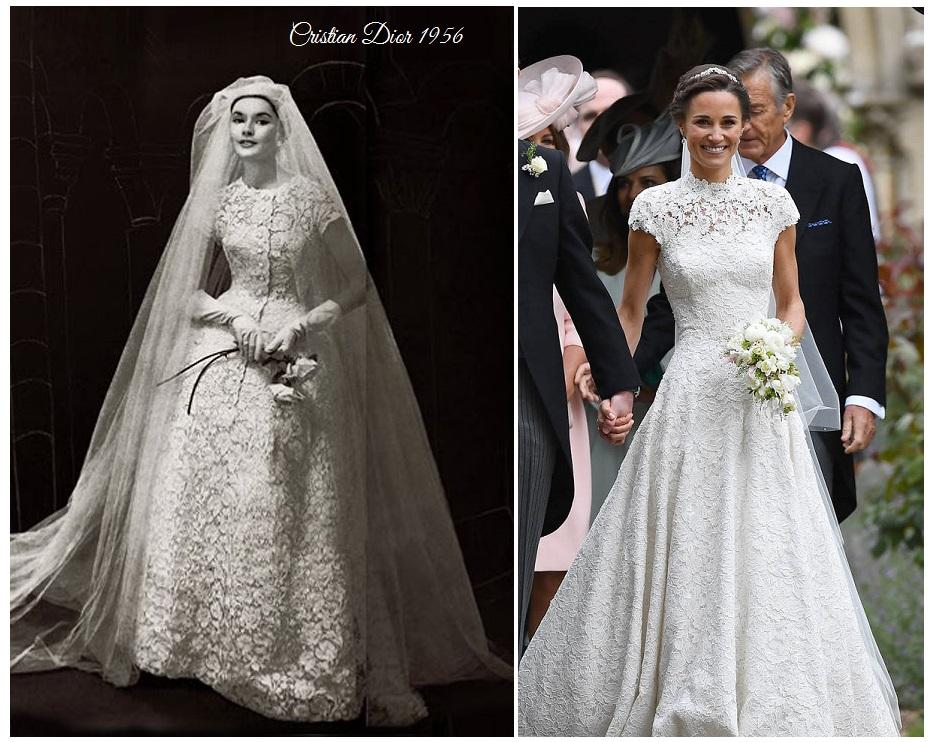 Un abito da sposa Dior molto simile al modello scelto da Pippa Middleton