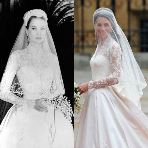 Gli abiti di Kate e Grace Kelly a confronto