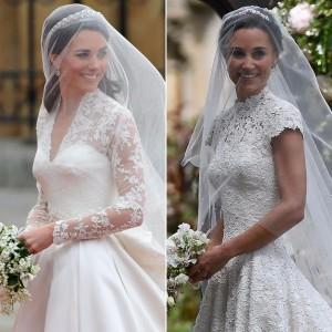 Le due sorelle in abito da sposa