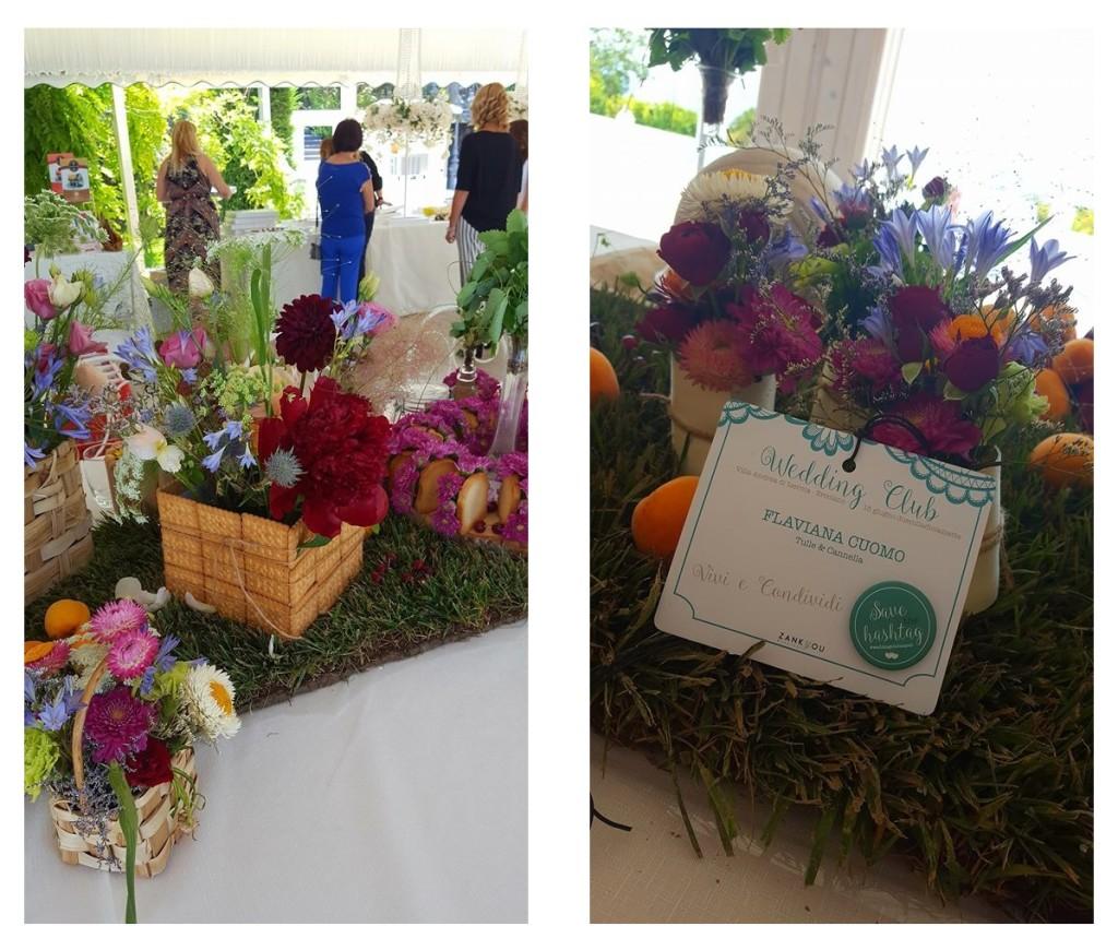 Dettagli dell'allestimento floreale della Wedding Breakfast