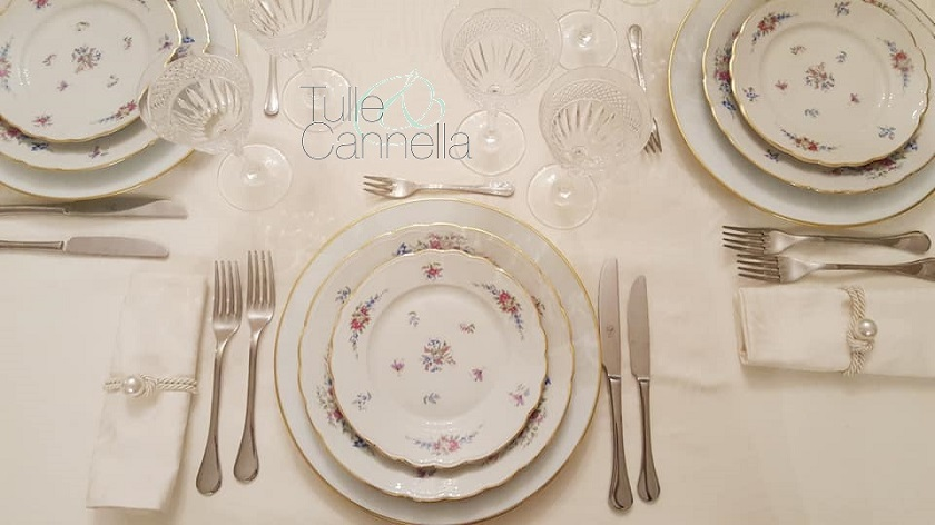mise en place formale tulle e cannella wedding planner