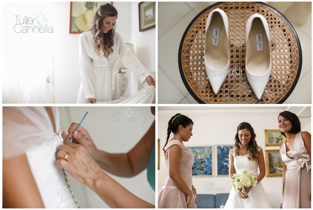 La vestizione della sposa è sempre un momento molto emozionante!