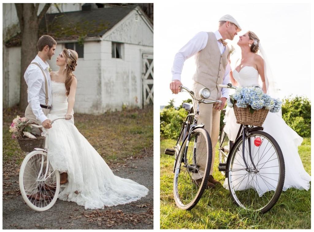 Biciclette per sposi green - rusticweddingchic.com