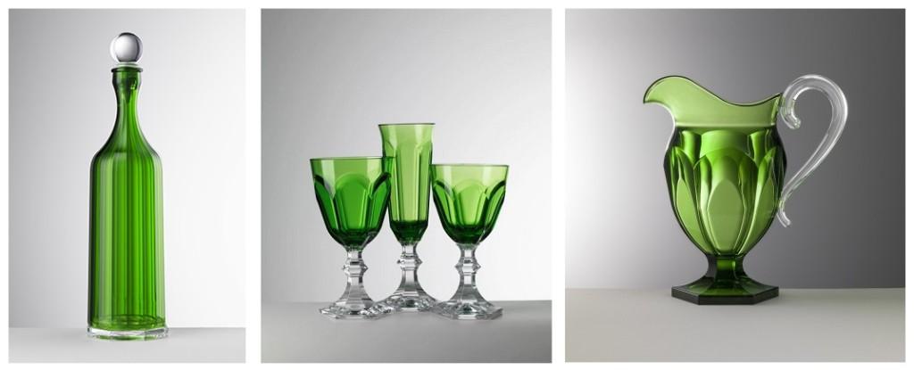 Una delle serie di Bicchieri e Bottiglie in acrilico e melamina di Mario Luca Giusti