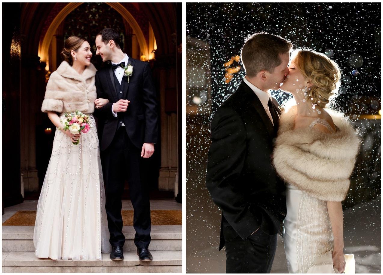 Un Bolero o una Stola in pelliccia rendono la sposa invernale elegante e sofisticata - sarahsalotti-com