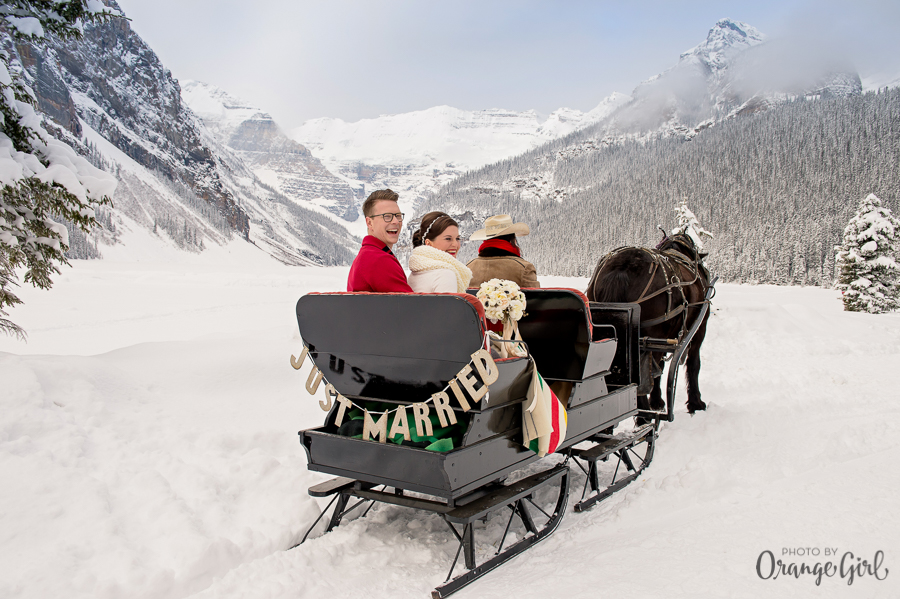 Just Married e... una romantica slitta sulla neve - orangegirl.com