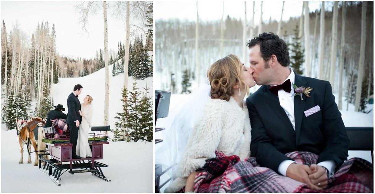 Non c'è nulla di più romantico che abbracciarsi sotto un plaid con la neve tutto intorno - erinkatephoto.com