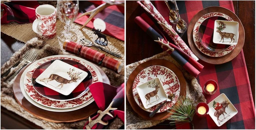 Splendido mix di piatti e un tocco e dettagli tartan - potterybarn.com