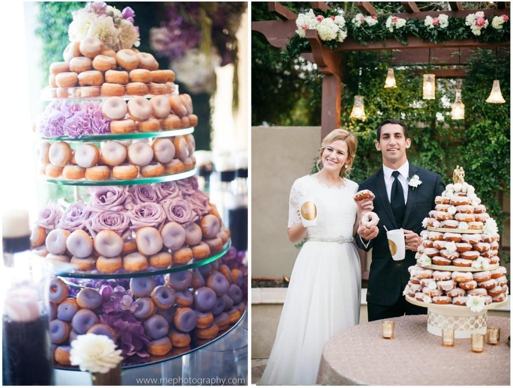 Se sei una sposa in cerca di una wedding cake alternativa questa Donuts Cake fa al caso tuo - mephotopgraphy.com
