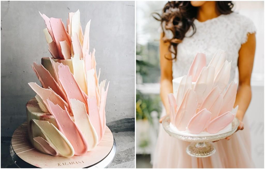 Bellissima, irriverente, pittorica ma anche romantica la torta di Kalabasa e la versione di wedwillow.ru