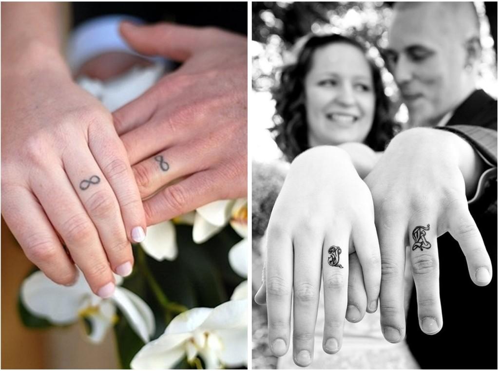 Il simbolo dell'infinito, è il tatuaggio più gettonato tra gli sposi - fingertattoodesigns