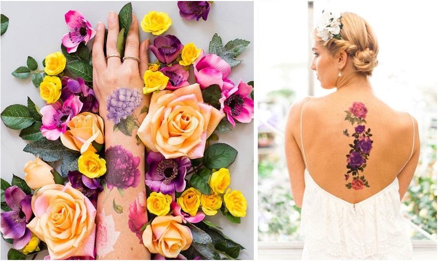 Tatuaggi floreali temporanei e profumati - tattly.com