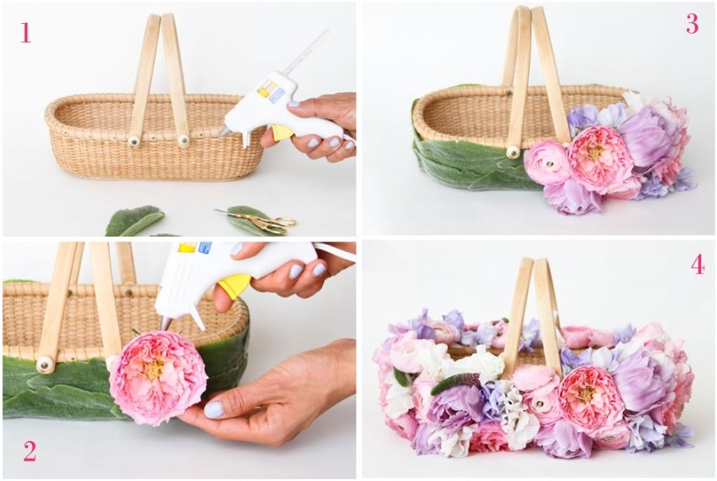 Ecco i 4 semplici passaggi per creare un bellissimo cesto decorato - papernstitchblog.com