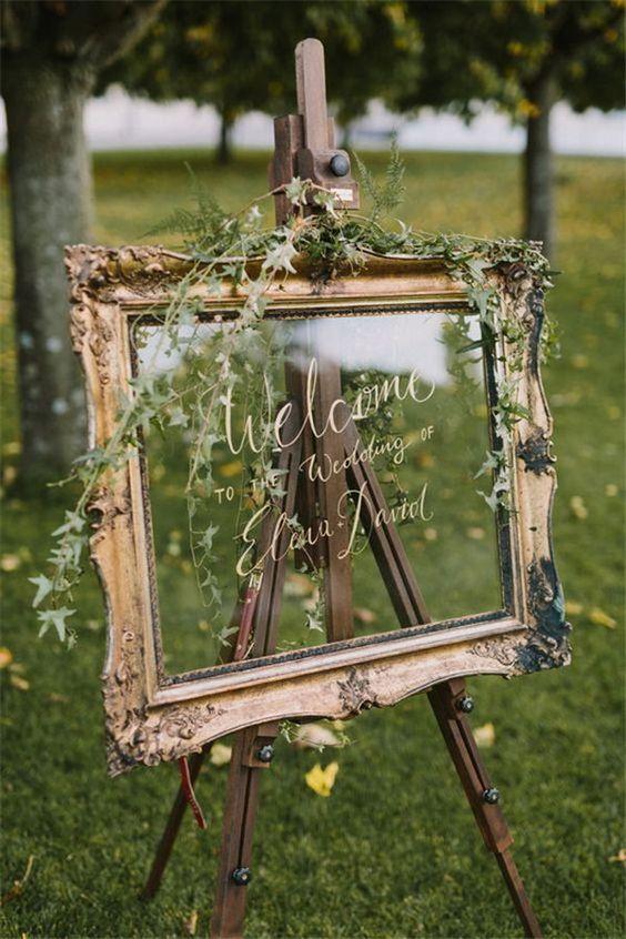 Un benvenuto dallo stile natural e un po' barocco - weddinginclude.com