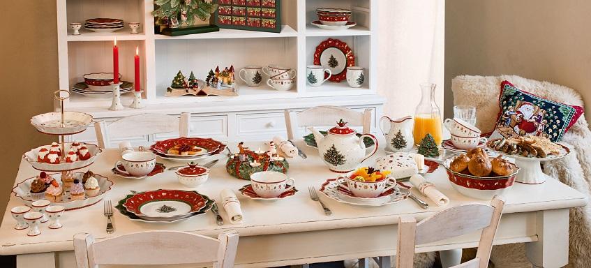 Un servizio di porcellane natalizie per la prima colazione completo davvero di tutto - Villeroy & Boch