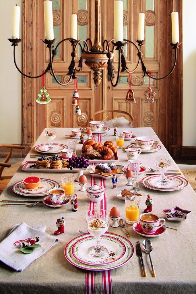 Una colazione elegante e ricca di cose buone, con le porcellane Villeroy & Boch
