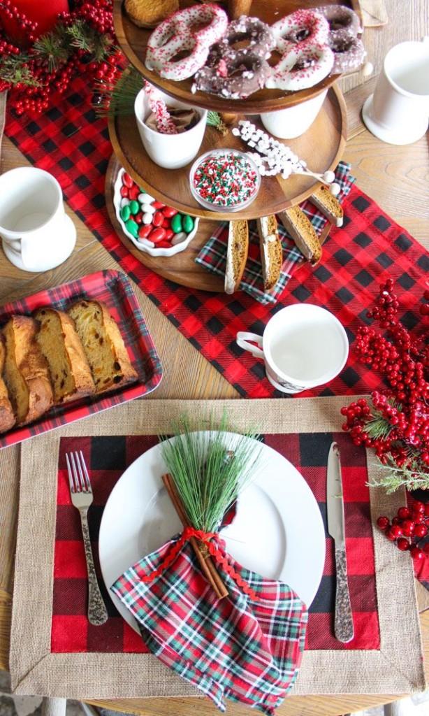 Stile scozzese e rustico per una colazione da montagna - designimprovised.com