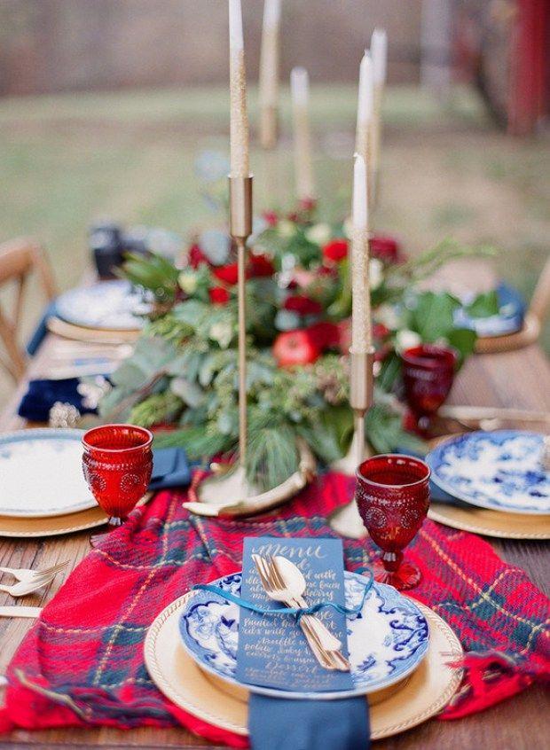 Matrimonio rustic chic con un bellissimo drappo tartan - thespruce.com