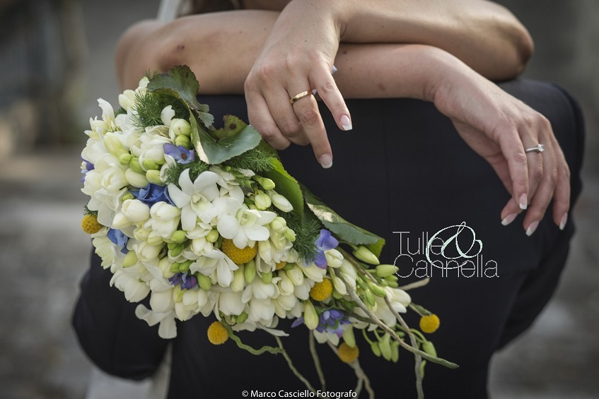 bouquet pendente bouquet a goccia tulle e cannella wedding planner