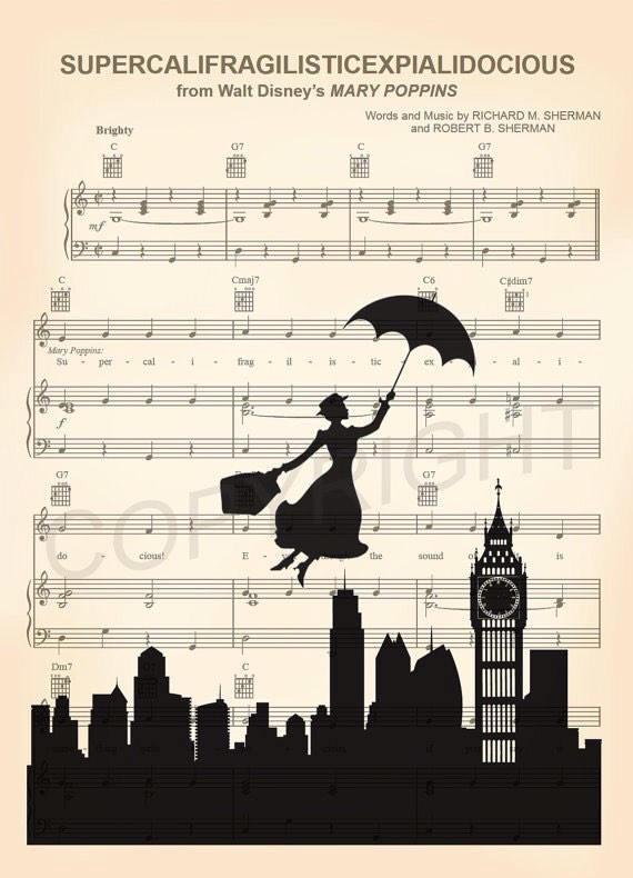 Los spartito della canzone più famosa del film - amorprints.com