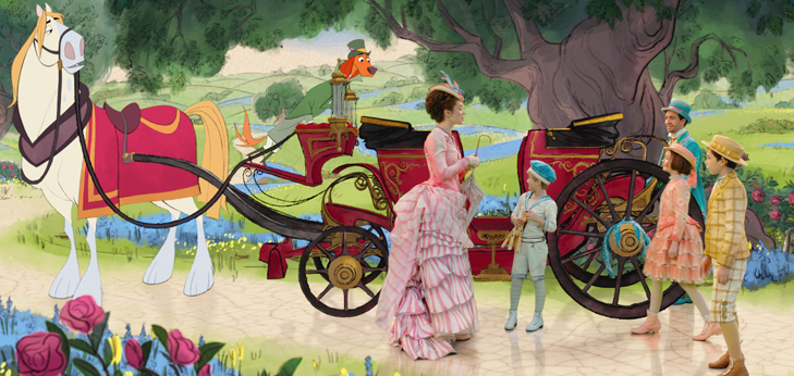 Personaggi reali e Cartoons creano la magia di Mary Poppins