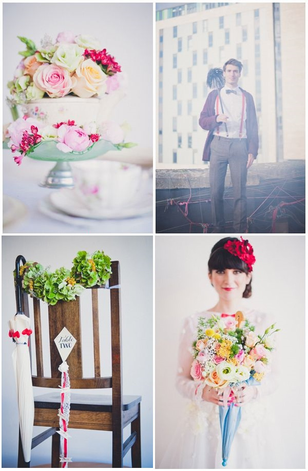 Interpretazione super romantica per questo shooting in tema Mary Poppins - littleweddinghelper.co.uk