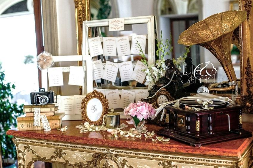tableau de mariage tulleecannella vintage