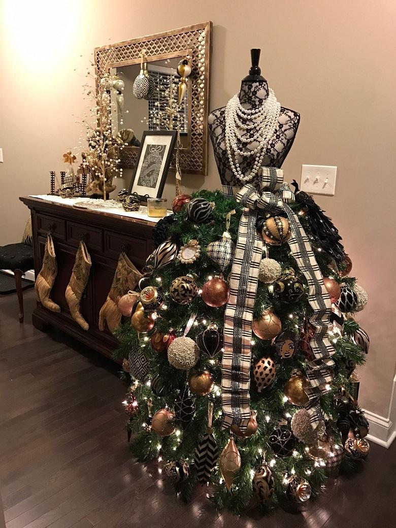 albero di natale abito da sera designed johncie kanney