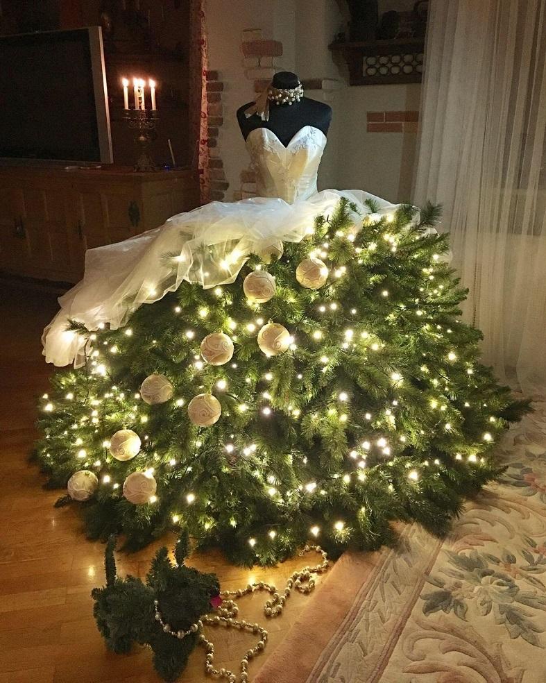 albero di natale abito sposa paulettecrawford