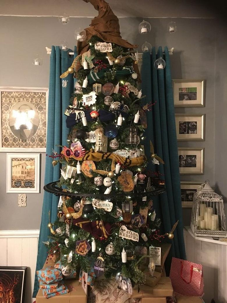 albero di natale harry potter