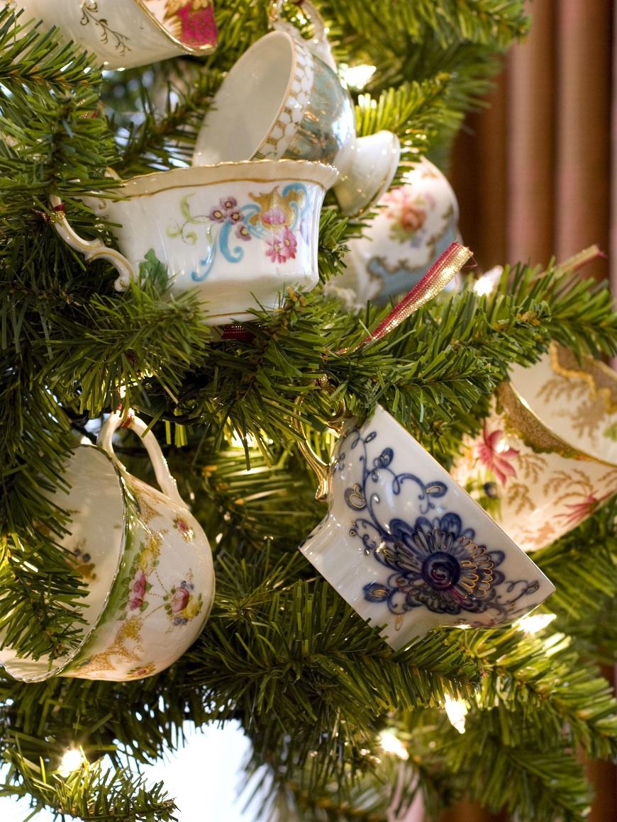 albero di natale tazzine porcellana