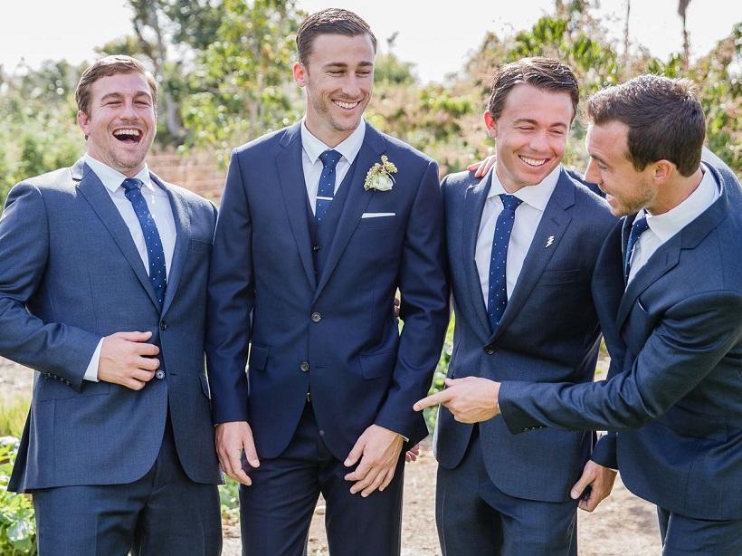qualcosa di blu sposo cerimonia abito blu