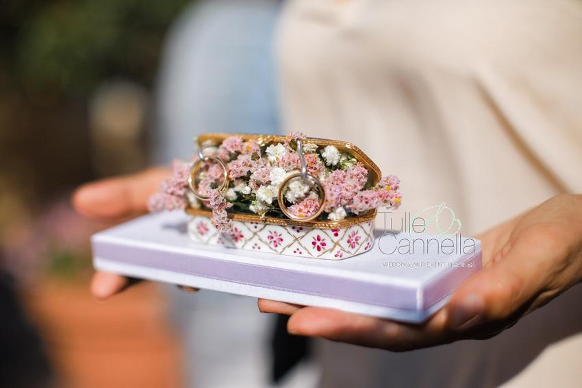 ricordi del matrimonio portafedi wedding rings