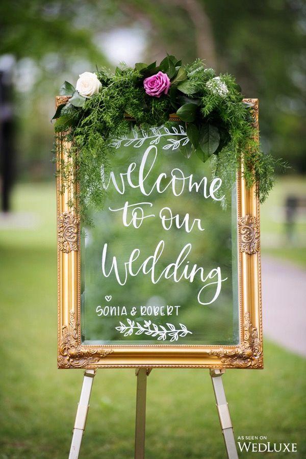 Decorare con le Cornici benvenuto sposi