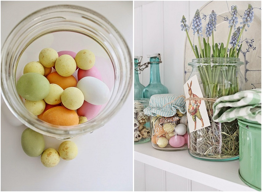 Decorazioni di Pasqua barattoli vibekedesign 2