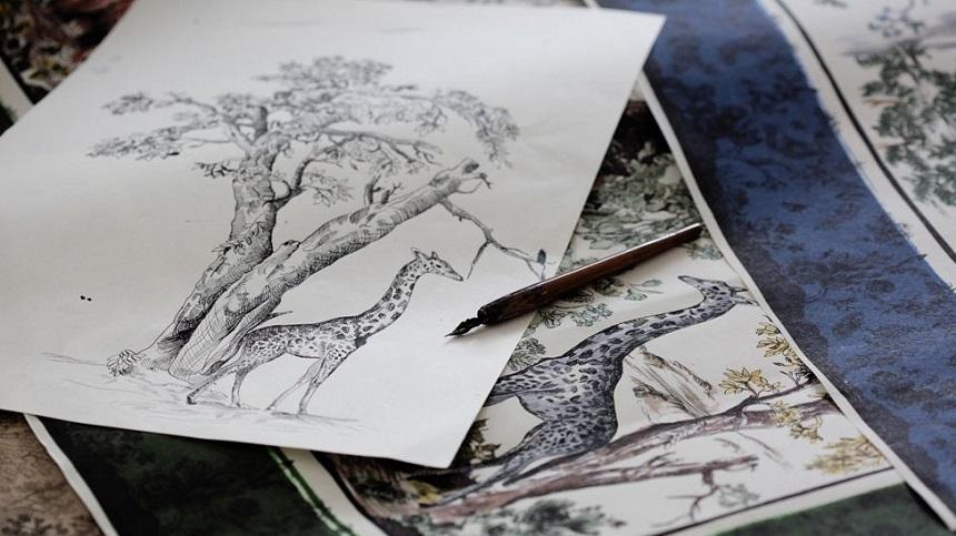 Toile de Jouy Dior disegni 2
