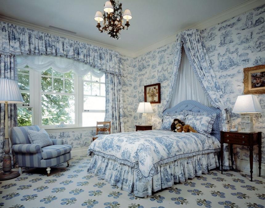 Toile de Jouy camera da letto realhomes