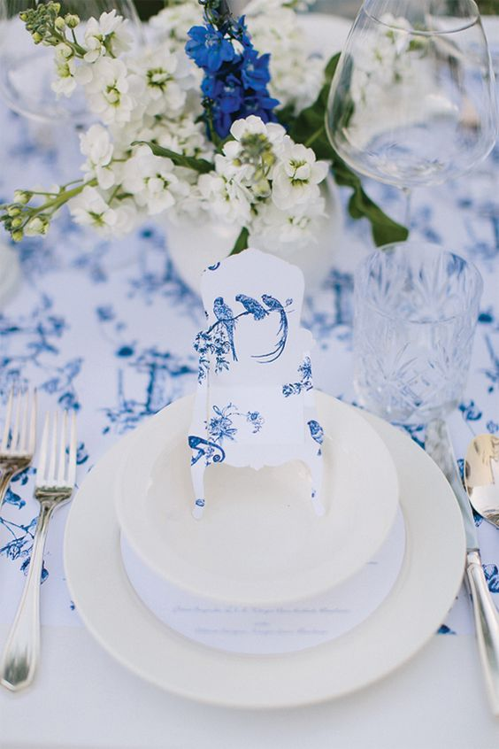 Toile de Jouy wedding magnoliarouge