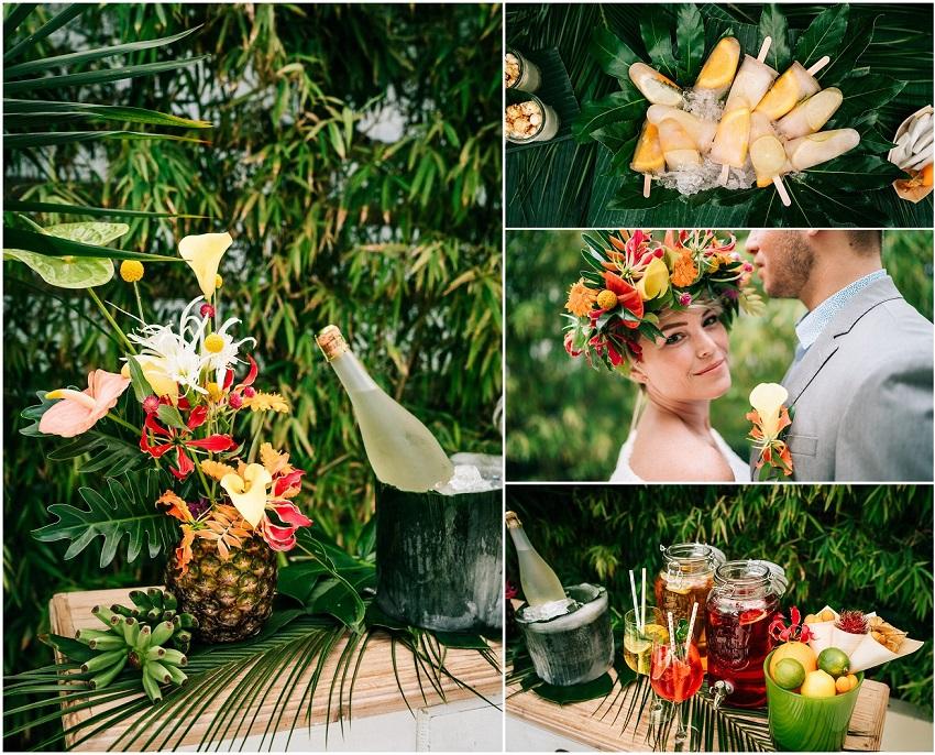 tropical wedding buffet elegantweddingcorner