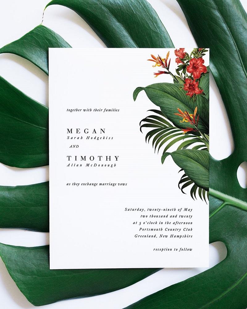 tropical wedding citrus-press