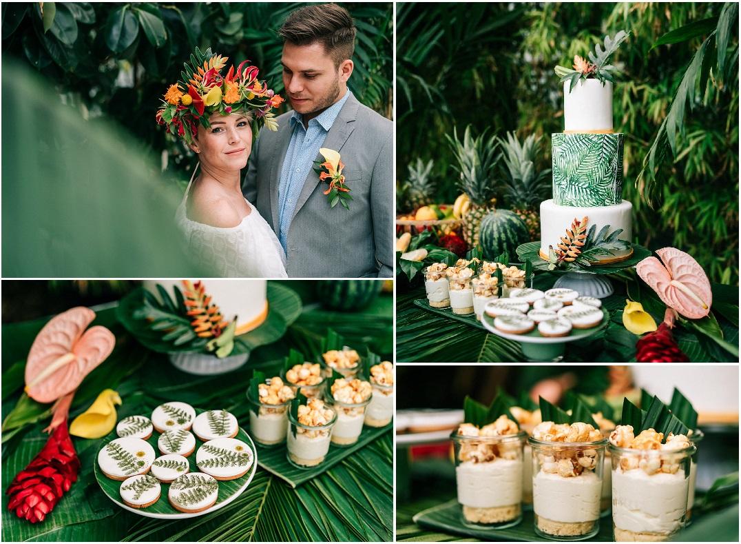 tropical wedding confettata elegantwedding