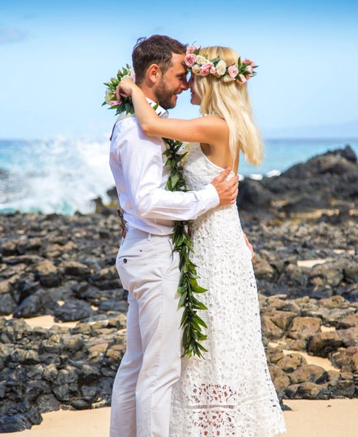 tropical wedding dress hawaiian