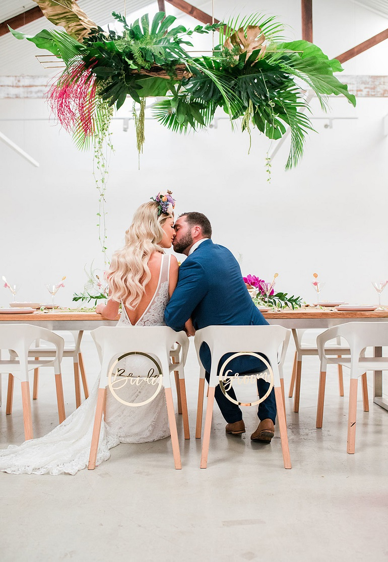 tropical wedding polkadotbride