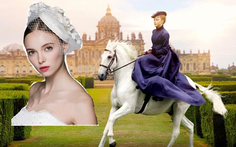 Bridgerton Daphne fascinator Sposa