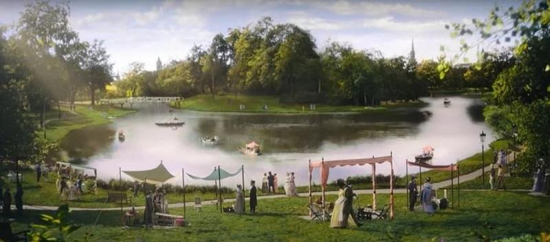 Bridgerton Park picnic