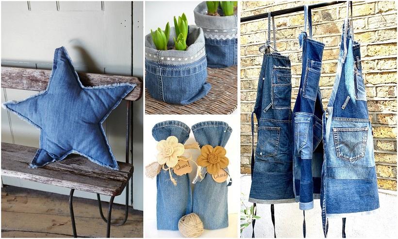tavola blu jeans cuscinoi grembiuli e altro