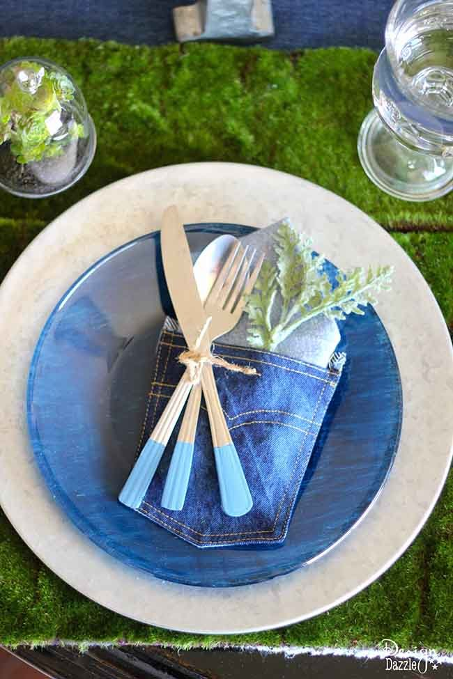 tavola blu jeans design dazzle